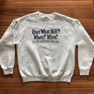 "vintage ""over the hill"" graphic sweatshirt !"